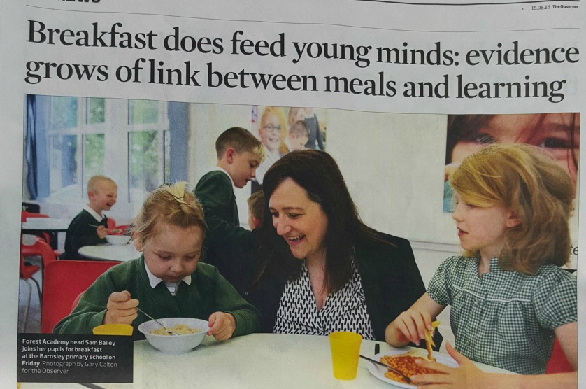 Breakfast does feed young minds