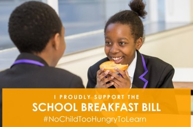 Success: the School Breakfast Bill goes to second reading!